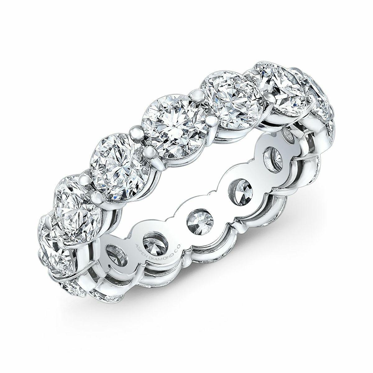 Round Brilliant Diamond Eternity Ring in Platinum