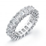 Emerald Cut Diamond Eternity Wedding Band in Platinum