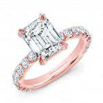 Emerald-Cut Diamond Ring in 18K Rose Gold