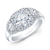 Cushion Cut Diamond Engagement Ring in Platinum